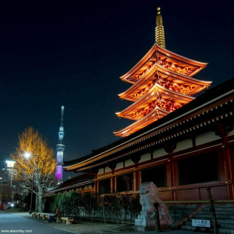 Sensoji Five-Storied Pagoda, one of the best things to do in Asakusa