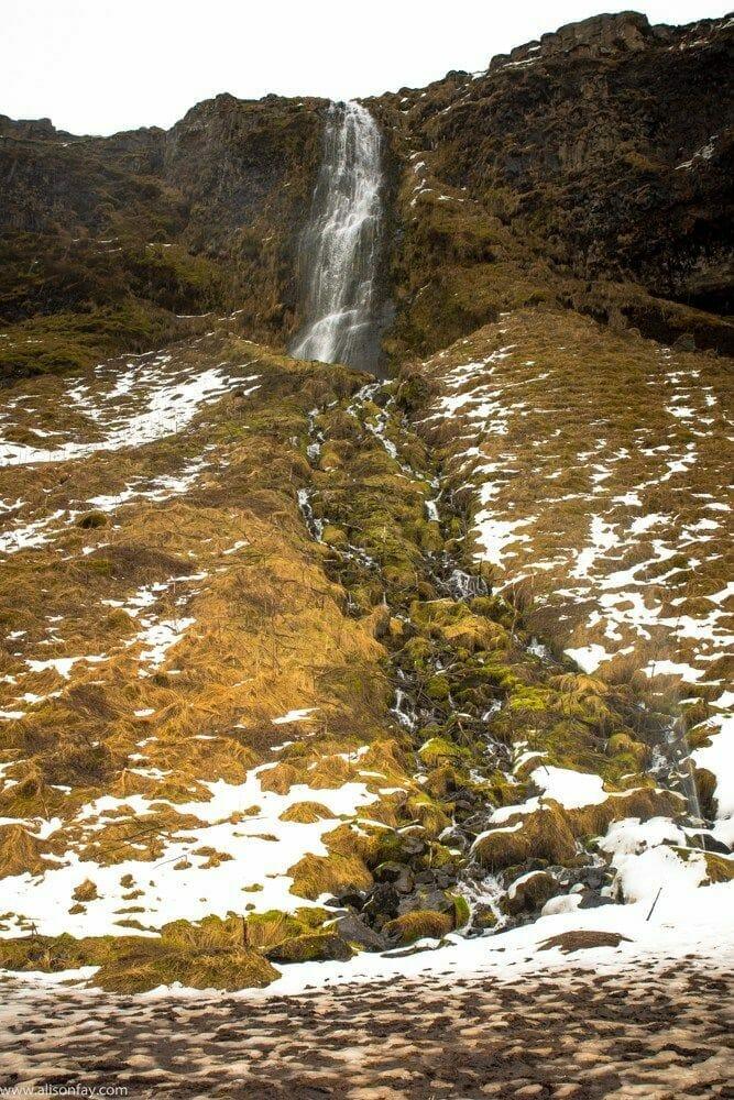 Waterfalls near Seljalandsfoss
