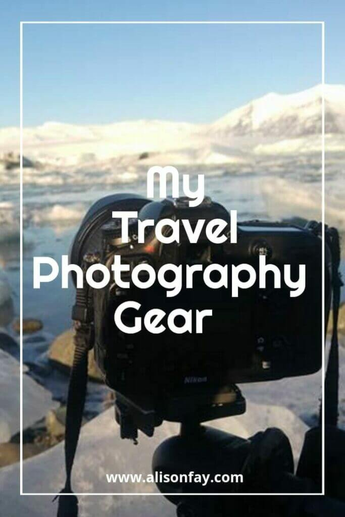 My travel photography gear pin - Alison Fay