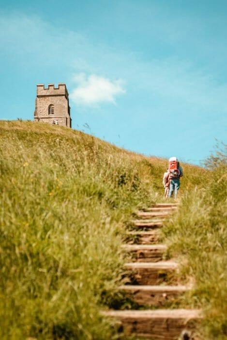 Steps leading to Glastonbury Tor